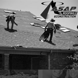 residential roofing contractors working on a roof